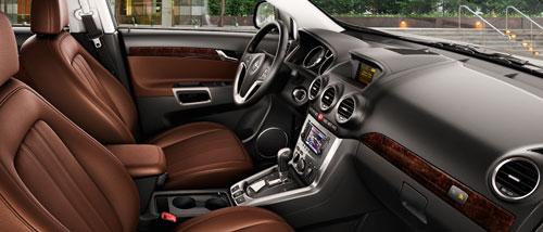 Богатый интерьер Opel Antara